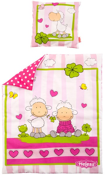 Puppenbettzeug Glücksschäfchen (Pink)