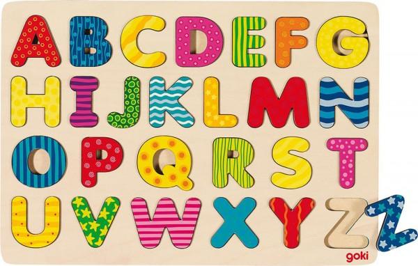 Holzpuzzle Alphabet (Bunt)