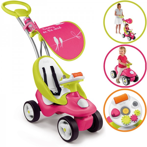 Rutscherauto Bubble Go 2in1 (Pink)