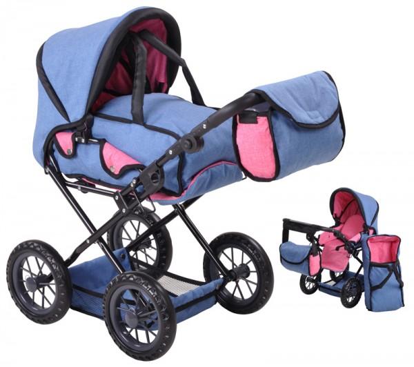 Puppenwagen Ruby (Jeans Blau)
