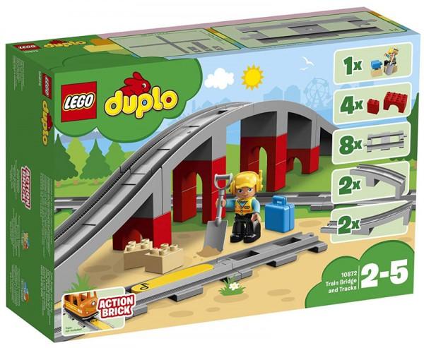 Duplo Eisenbahnbrücke und Schienen 10872