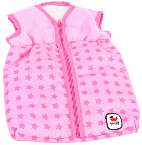 Puppenschlafsack Sternchen (Rosa-Pink)