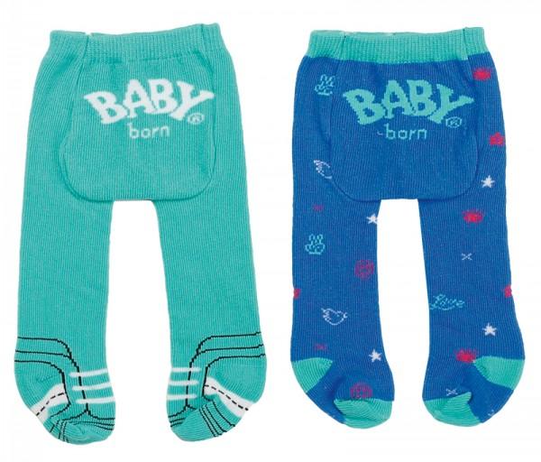 Baby Born Trend Strumpfhose 2er Pack 43 cm (Türkis-Blau)