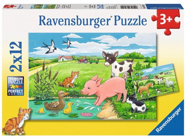 Kinderpuzzle Tierkinder auf dem Land ab 3 Jahren