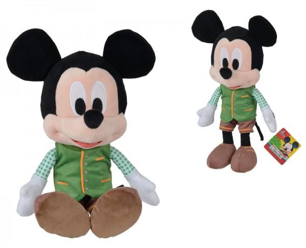 Disney Lederhosen Mickey Plüschfigur 30 cm (Grün-Braun)