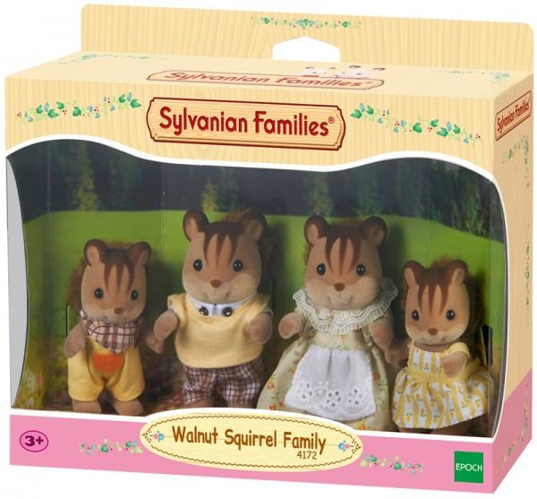 Sylvanian Families Walnuss Eichhörnchen Familie Knacks