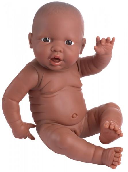 Babypuppe anatomisch korrekt Junge 42 cm (Dunkelhäutig)