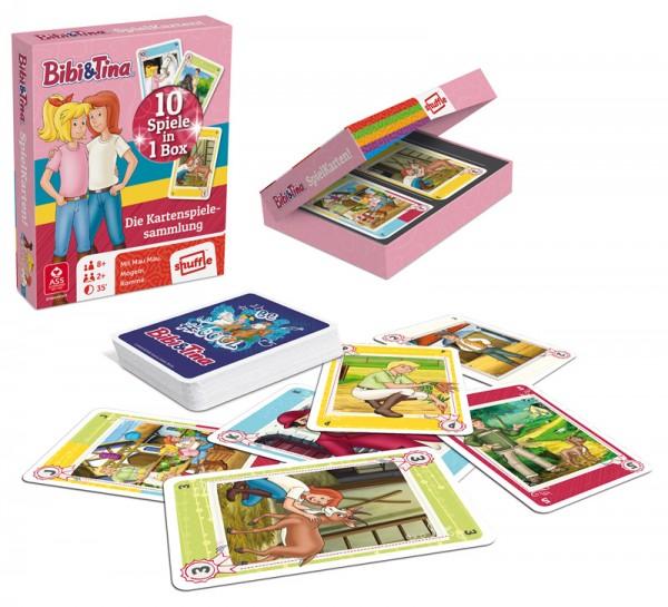 Kartenspielesammlung Bibi & Tina Spielkarten 10in1