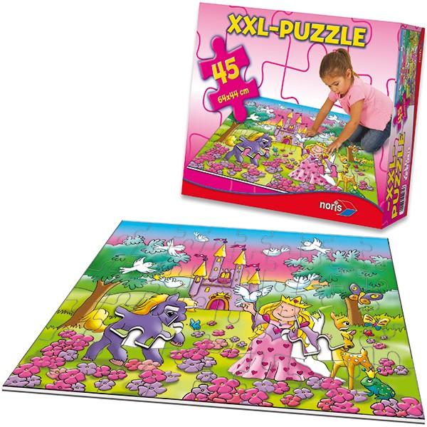 XXL Bodenpuzzle Prinzessin mit 45 großen Teilen