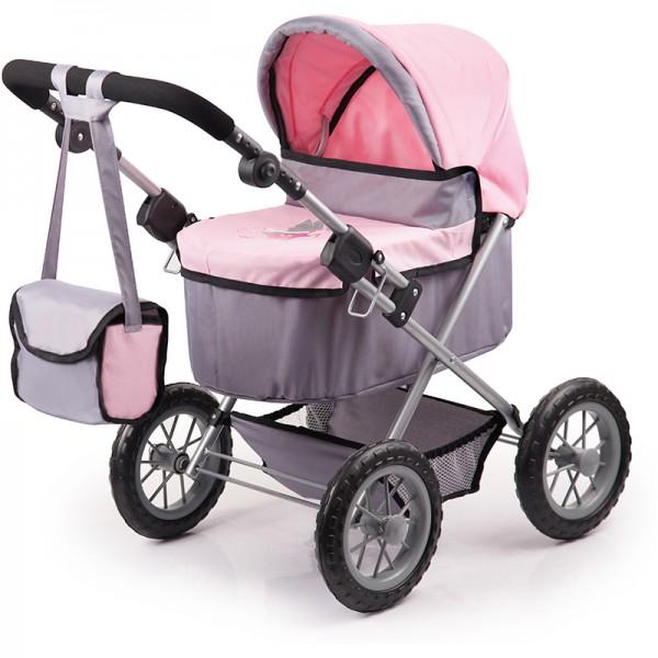 Mein erster Puppenwagen Trendy (Grau-Rosa)
