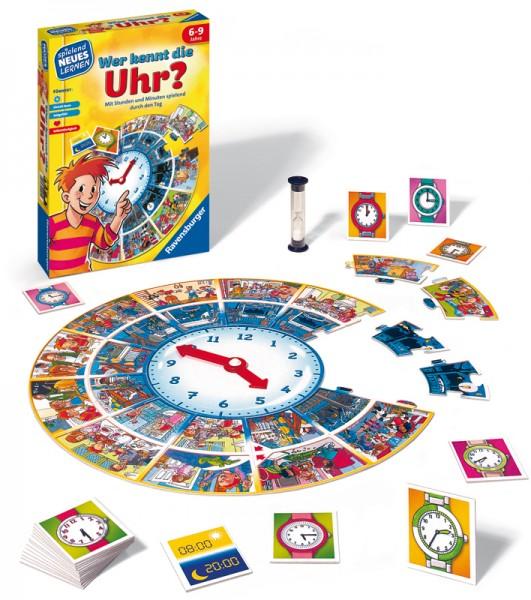 Kinderspiel Wer kennt die Uhr