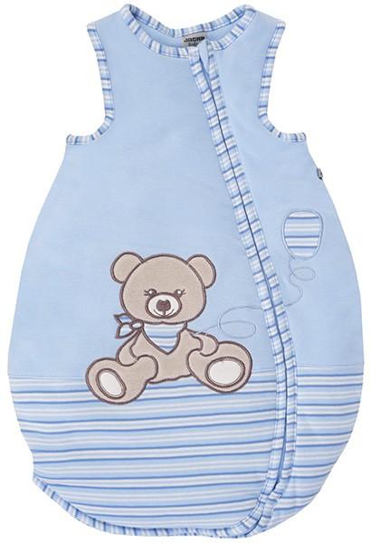 Sommerschlafsack Teddy Gr. 74/80 (Hellblau-Ringel)