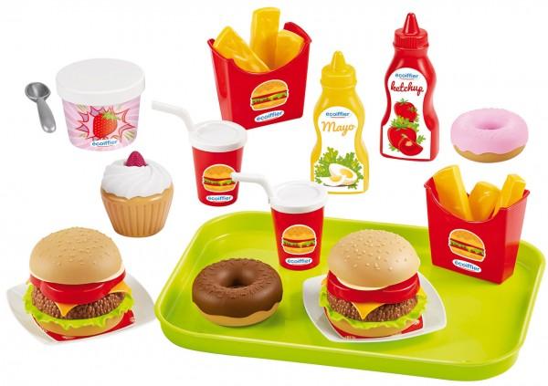 Großes Hamburger Set mit Tablett