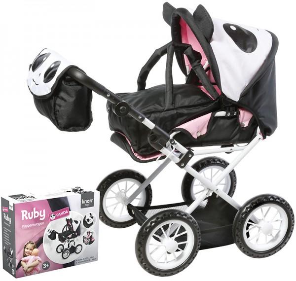 Puppenwagen Ruby Panda (Schwarz-Weiß)