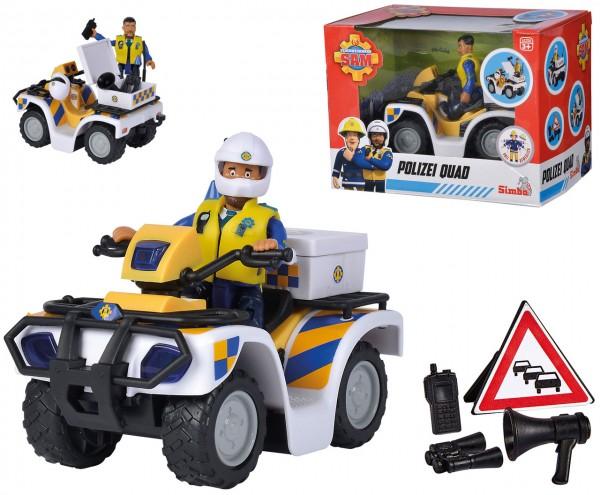 Feuerwehrmann Sam Polizei Quad mit Figur Malcolm