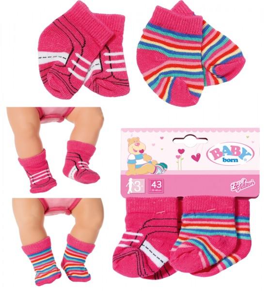 Baby Born Trend Socken 2er Pack 43 cm (Pink)
