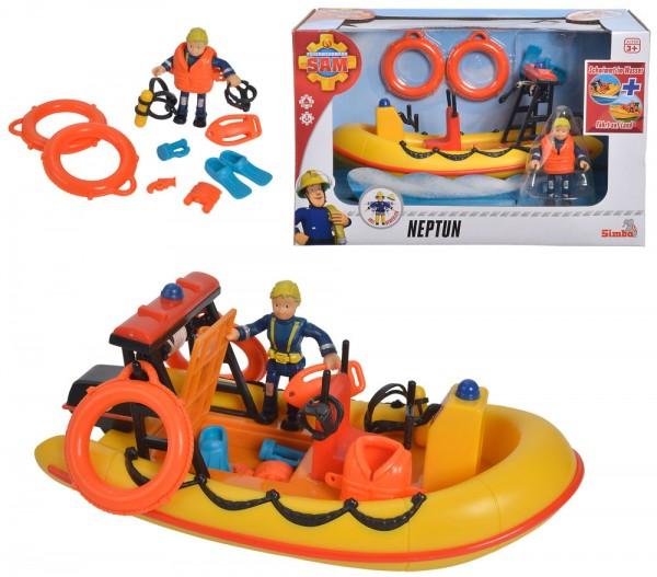Feuerwehrmann Sam Neptun Boot mit Peggy Figur