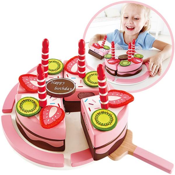 Geburtstagskuchen mit Obst aus Holz & Filz