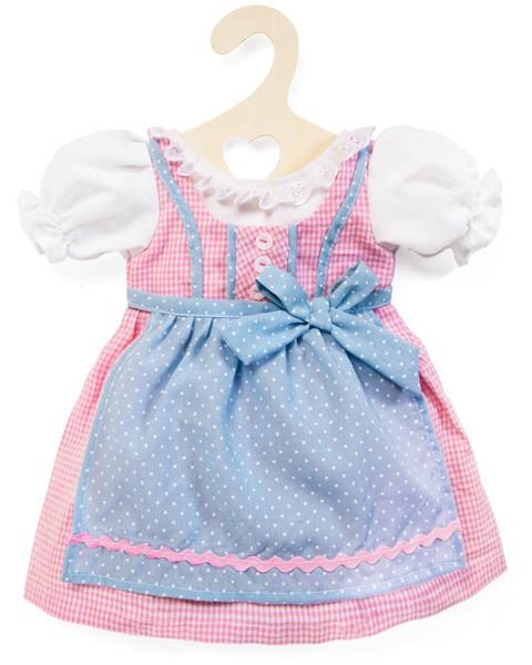 Kleidungsset Dirndl Kleid 35 - 45 cm (Rosa-Hellblau)