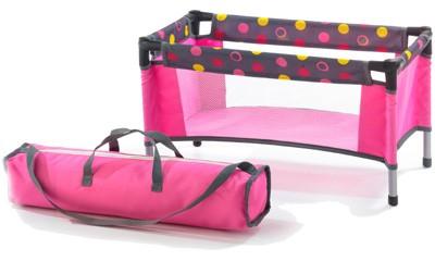 Puppenreisebett mit Tasche (Funny Pink)