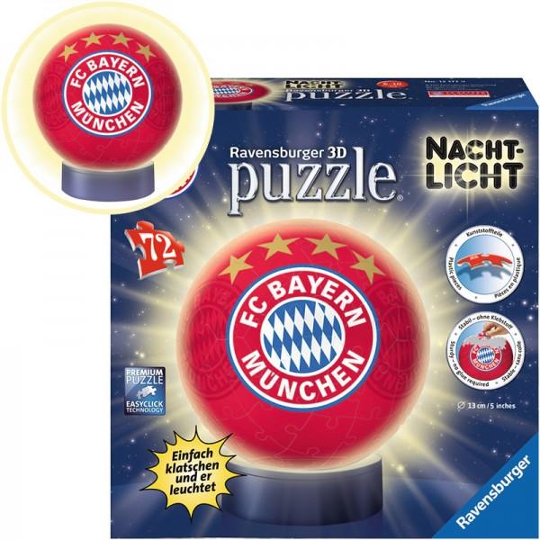 3D Puzzle-Ball mit Nachtlicht FC Bayern München