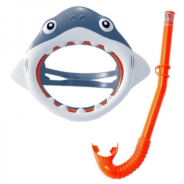 Schwimm-Set Hai Schnorchel und Tauchermaske