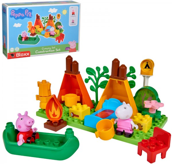 PlayBIG Bloxx Peppa Pig Camping Set