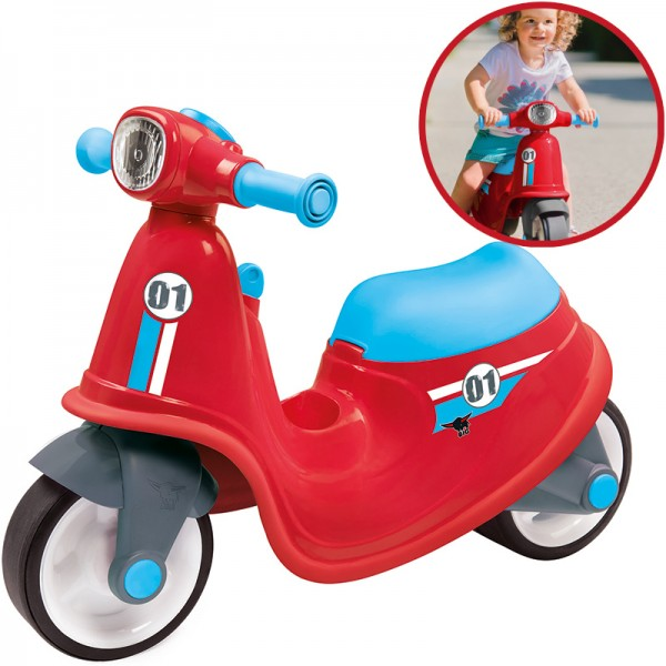 Kinder-Sitzroller Classic Scooter (Rot-Blau)