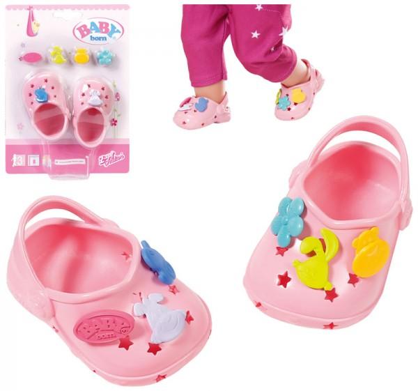 Baby Born Clogs mit Pins 43 cm (Rosa)