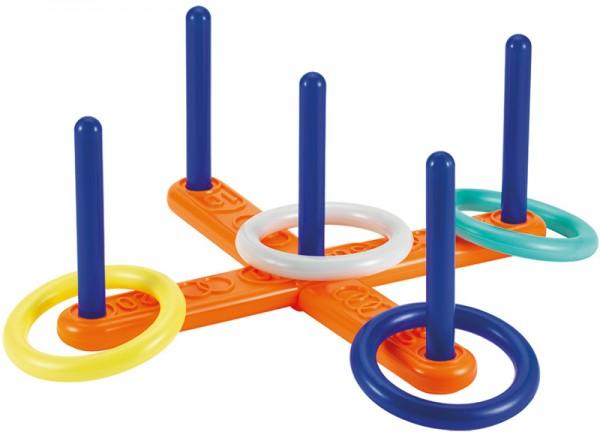 Kreuz-Wurfspiel mit 4 Ringen