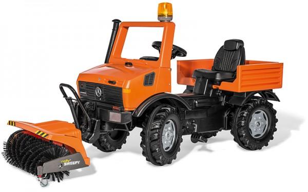 RollyUnimog Mercedes Service Unimog Tretfahrzeug mit Kehrmaschine (Orange)