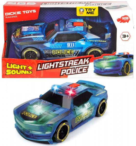 Rennauto Lightstreak Police mit Friktion und Licht & Sound