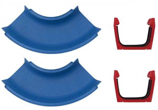 Erweiterungsset für Wasserbahn Kurve 2er Set