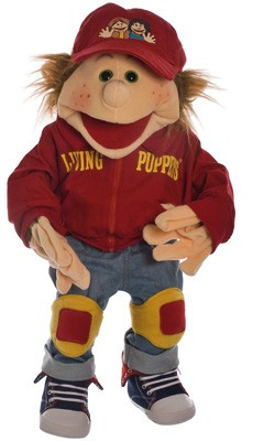 Living Puppets Große Handpuppe Lutzi der Skater 65 cm