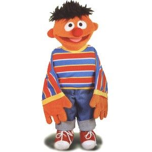 Living Puppets Handpuppe Ernie 45 cm (Orange)