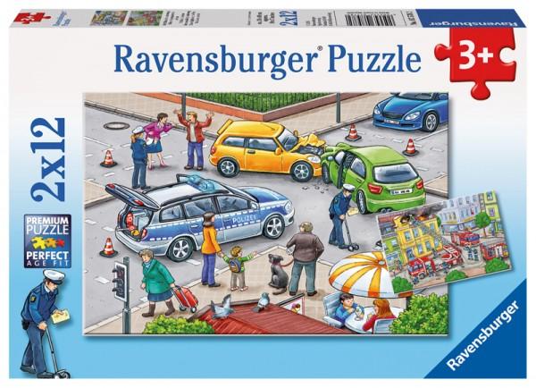 Kinderpuzzle Mit Blaulicht unterwegs ab 3 Jahren