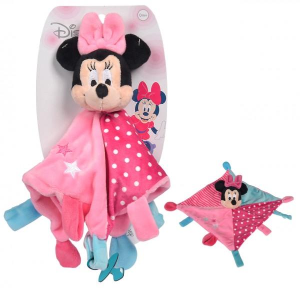 Disney Minnie Maus Großes 3D Schmusetuch mit Schnullerhalter (Rosa-Pink)