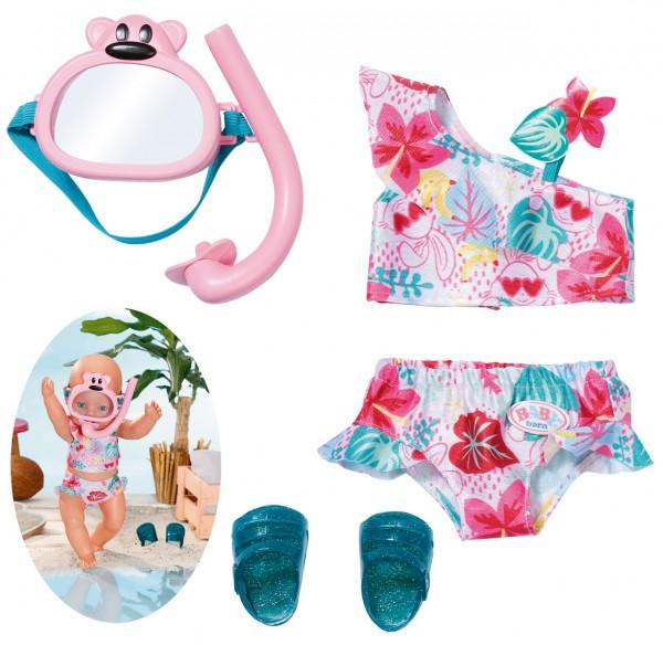 Baby Born Holiday Deluxe Bikini Set 43 cm (Rosa-Mint)