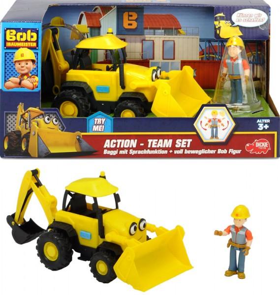 Bob der Baumeister Action-Team Set Baggi und Bob