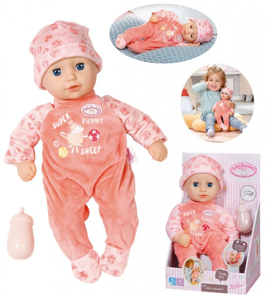 Baby Annabell Little Annabell Puppe 36 cm (Pastell Aprikot)