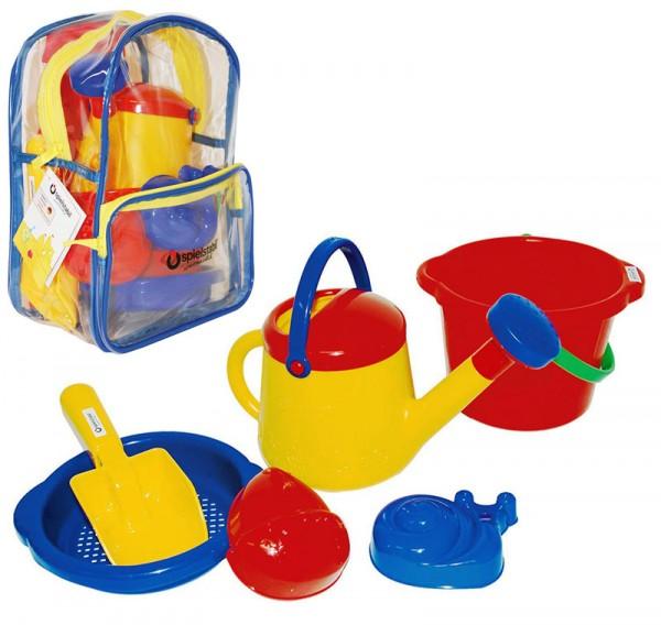 Rucksack mit Sandspielzeug Classic (Rot-Blau)