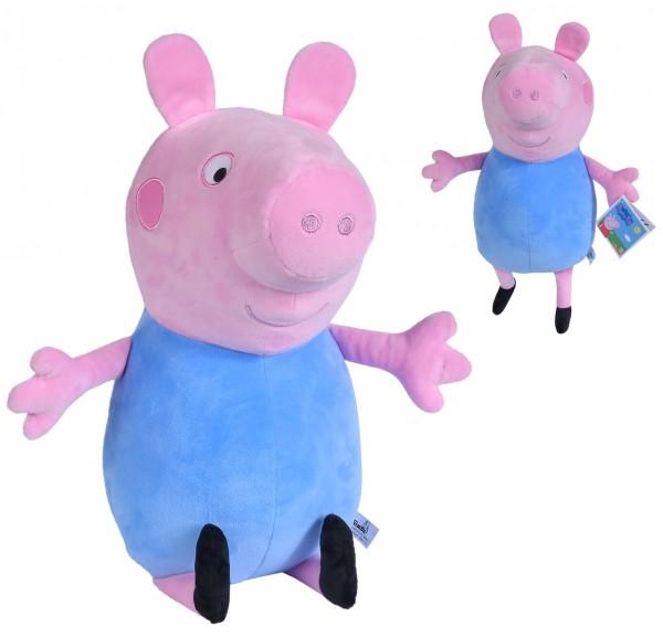 Große Peppa Pig Plüschfigur Schorsch 31 cm (Blau)