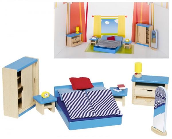 Puppenhausmöbel für das Schlafzimmer