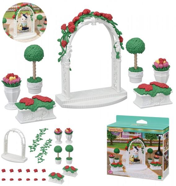 Sylvanian Families Town Series Gartenset mit Torbogen