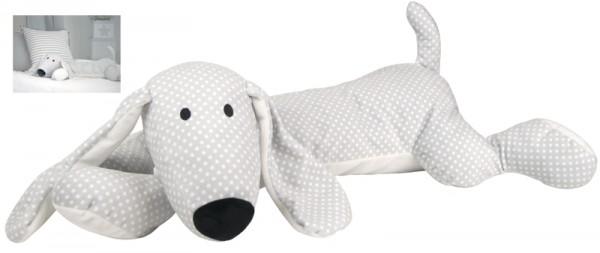Großer XL Plüschhund Pünktchen 65 cm (Grau)