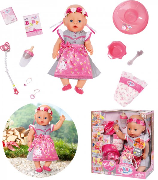 Baby Born Puppe Soft Touch Dirndl Edition 43 cm (Pink)