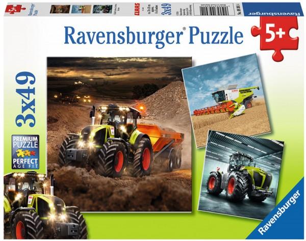 Kinderpuzzle Claas Traktoren Axion, Lexion, Xerion ab 5 Jahren