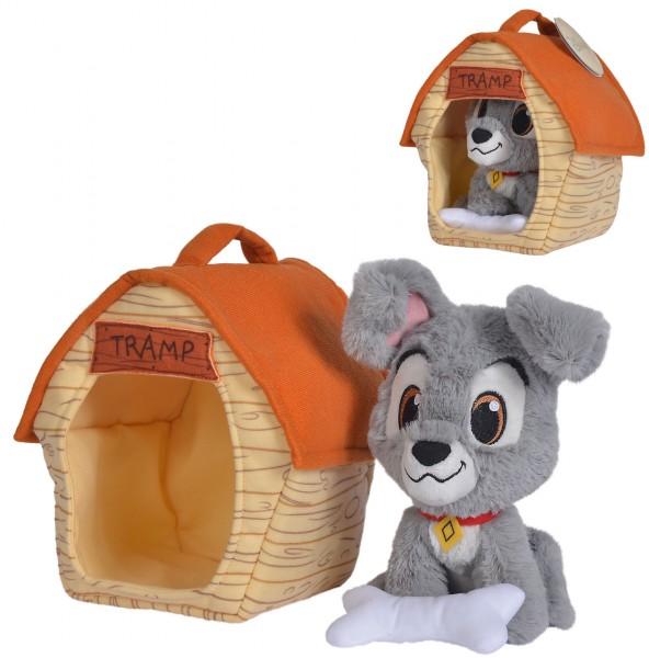 Disney Susi und Strolch Rüde Strolch mit Hundehütte 20 cm (Grau)