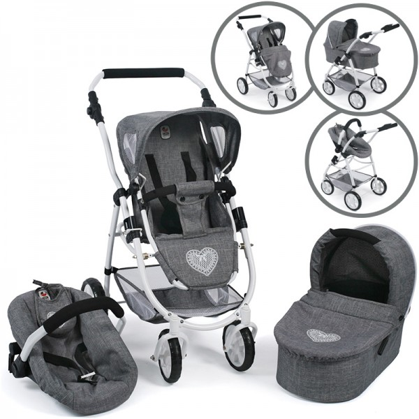 Puppenwagen Emotion All In 3in1 (Jeans Grey)