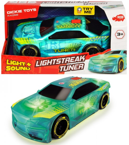 Rennauto Lightstreak Tuner mit Friktion und Licht & Sound